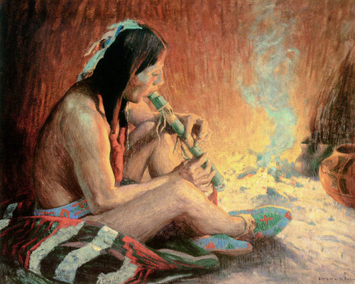 Art Prints of The Flute Song II by Eanger Irving Couse