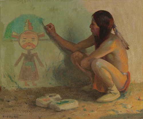 Art Prints of The Kachina Painter by Eanger Irving Couse