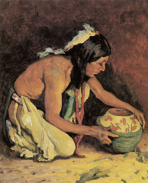 Art Prints of The Potter by Eanger Irving Couse