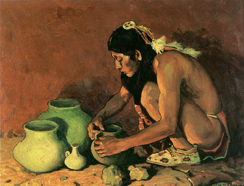 Art Prints of The Pottery Maker by Eanger Irving Couse
