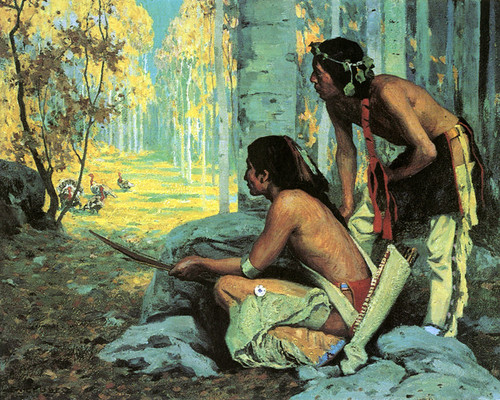 Art Prints of Taos, Turkey Hunters by Eanger Irving Couse