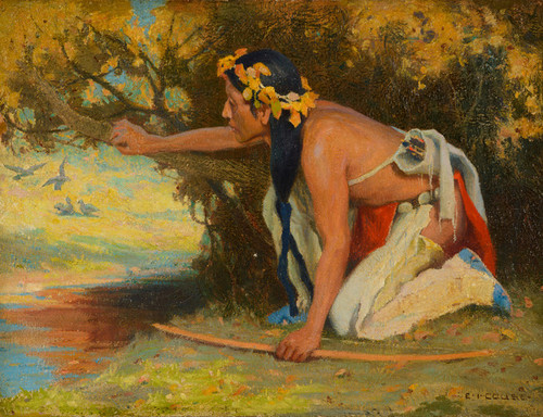 Art Prints of Hunting Son by Eanger Irving Couse