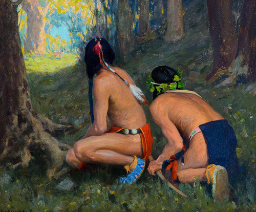 Art Prints of Surprised by Eanger Irving Couse