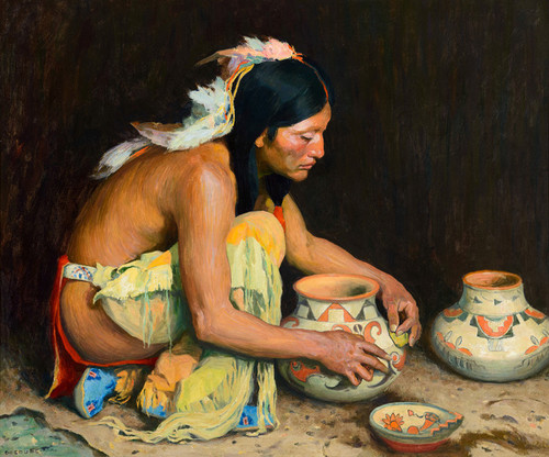 Art Prints of The Pottery Maker II by Eanger Irving Couse