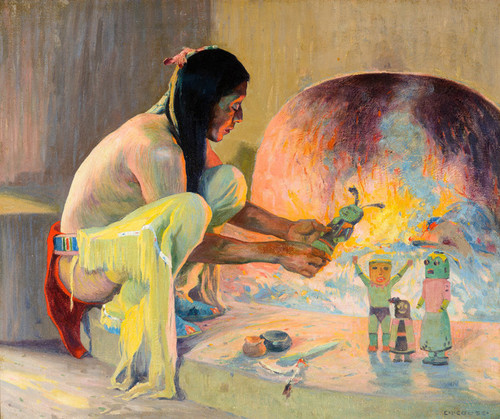Art Prints of The Kachina Maker by Eanger Irving Couse