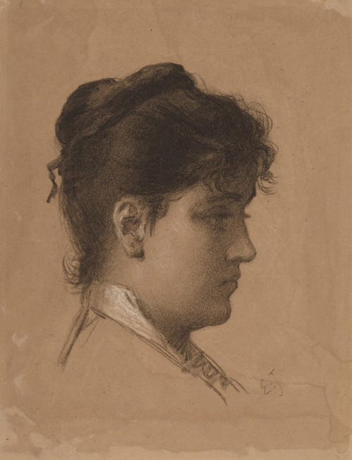 Art Prints of Head of a Young Woman by Eastman Johnson