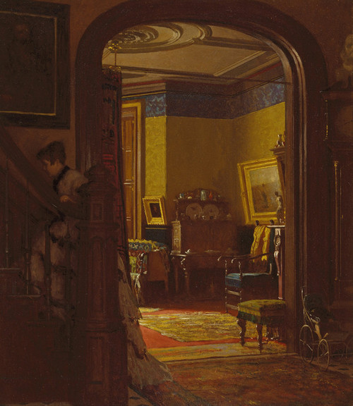 Art Prints of Not at Home by Eastman Johnson