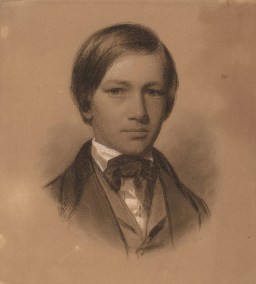 Art Prints of Portrait of a Young Man by Eastman Johnson
