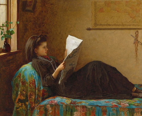 Art Prints of Interesting News by Eastman Johnson