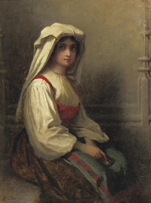 Art Prints of The Bohemian Girl by Eastman Johnson