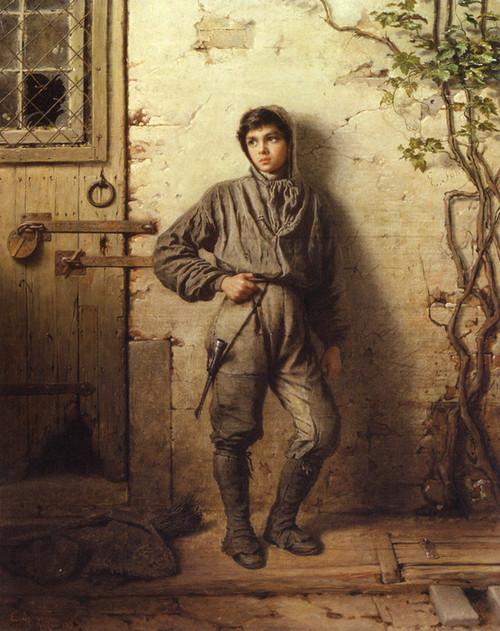 Art Prints of The Savoyard Boy, 1853 by Eastman Johnson