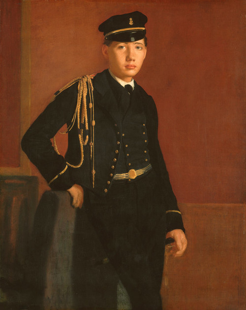 Art Prints of Achille de Gas in the Uniform of a Cadet by Edgar Degas