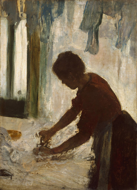 Art Prints of A Woman Ironing by Edgar Degas