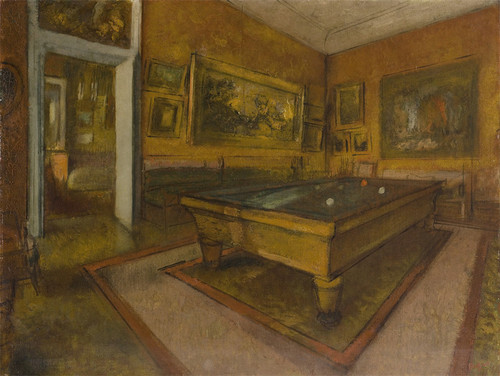 Art Prints of Billiard Room at Menil Hubert by Edgar Degas