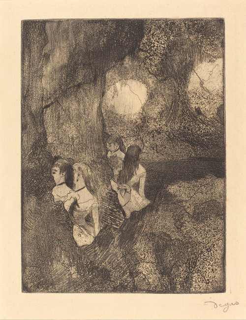 Art Prints of Dancers in the Wings by Edgar Degas