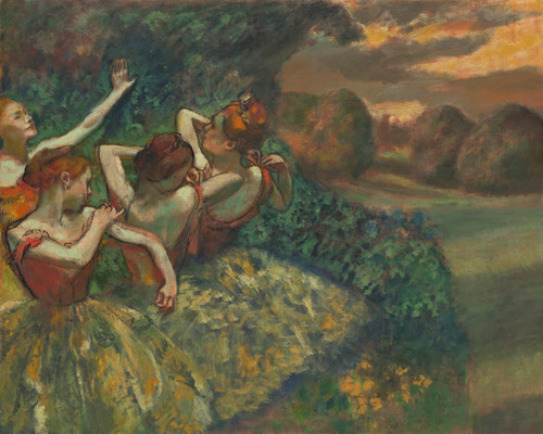 Art Prints of Four Dancers by Edgar Degas