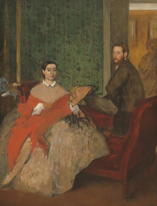 Art Prints of Edmondo and Therese Morbilli by Edgar Degas