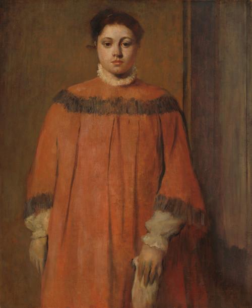 Art Prints of Girl in Red by Edgar Degas