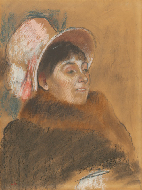 Art Prints of Madame Dietz Monnin by Edgar Degas