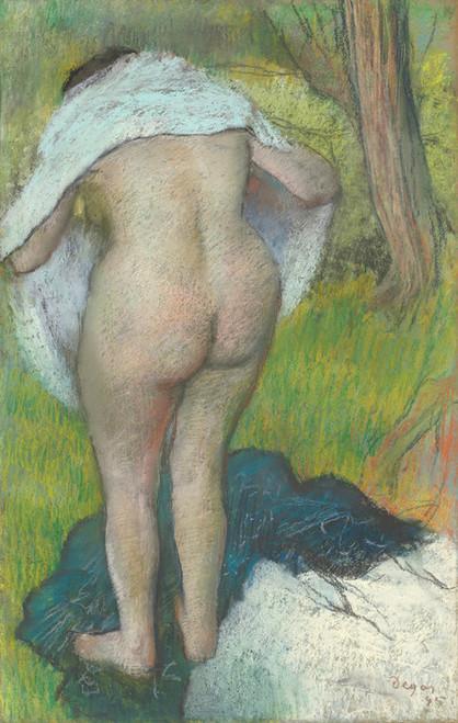 Art Prints of Girl Drying Herself by Edgar Degas