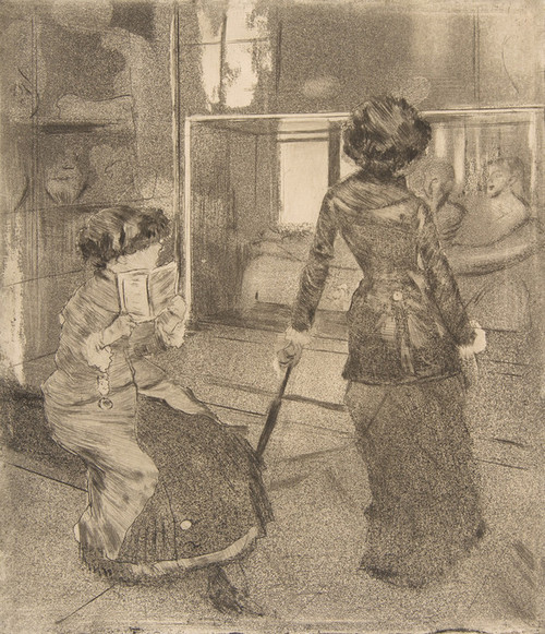Art Prints of Mary Cassatt at the Louvre by Edgar Degas