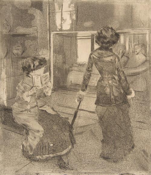 Art Prints of Mary Cassatt at the Louvre by Edgar Degas