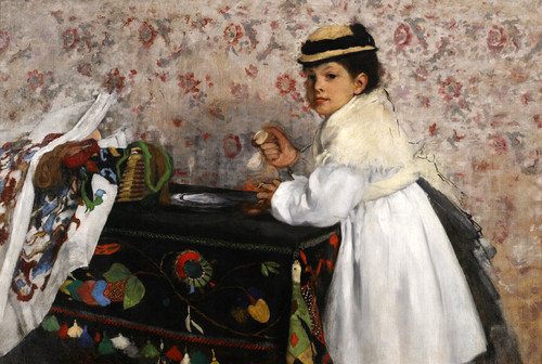 Art Prints of Portrait Mlle Hortense Valpincon by Edgar Degas