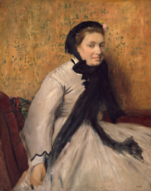 Art Prints of Portrait of a Woman in Gray by Edgar Degas