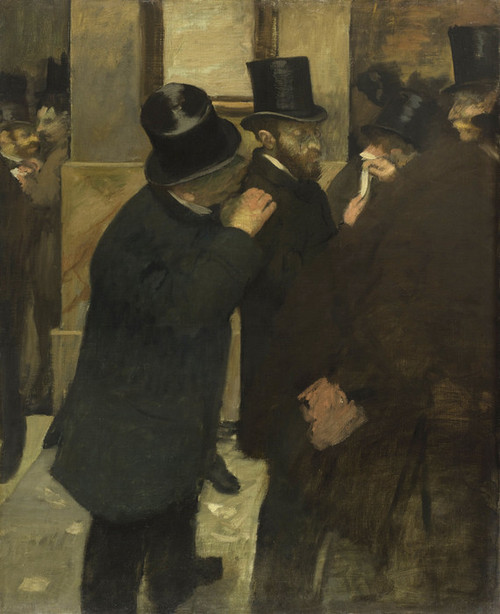Art Prints of Portraits at the Stock Exchange by Edgar Degas