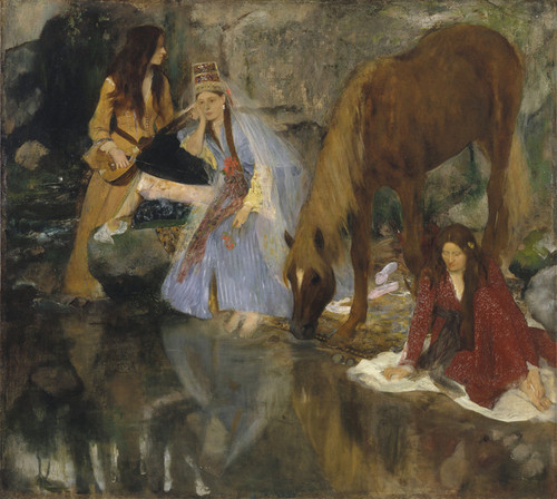 """Art Prints of Portrait of Mlle Fiocre in the Ballet, """"The Force"""" by Edgar Degas"""
