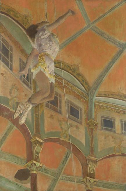 Art Prints of Miss La La at the Cirque Fernando by Edgar Degas