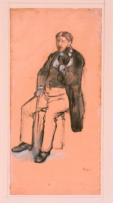 Art Prints of Seated Violin Player by Edgar Degas