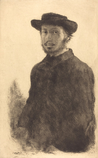 Art Prints of Self Portrait, 1857 by Edgar Degas