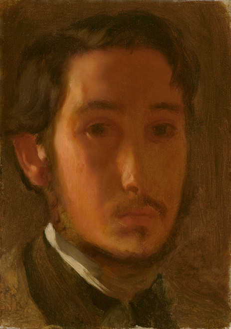 Art Prints of Self Portrait with White Collar by Edgar Degas