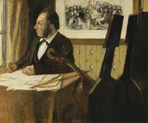 Art Prints of The Cellist Pilet by Edgar Degas