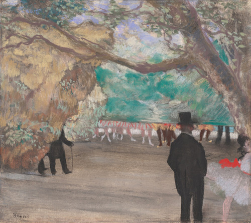 Art Prints of The Curtain by Edgar Degas