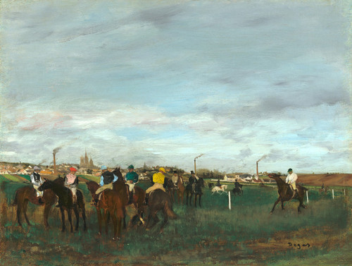 Art Prints of The Races by Edgar Degas