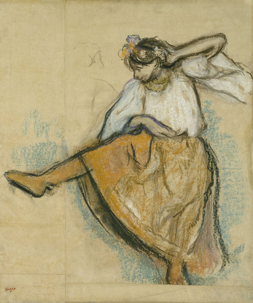 Art Prints of The Russian Dancer by Edgar Degas
