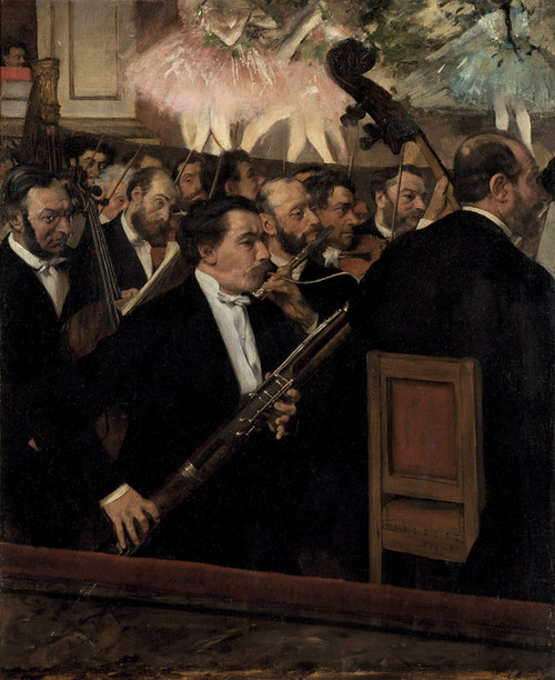 Art Prints of The Orchestra at the Opera by Edgar Degas
