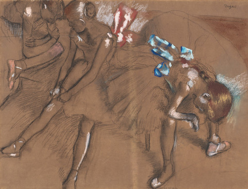 Art Prints of Three Dancers Resting by Edgar Degas