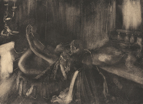 Art Prints of Woman by a Fireplace by Edgar Degas