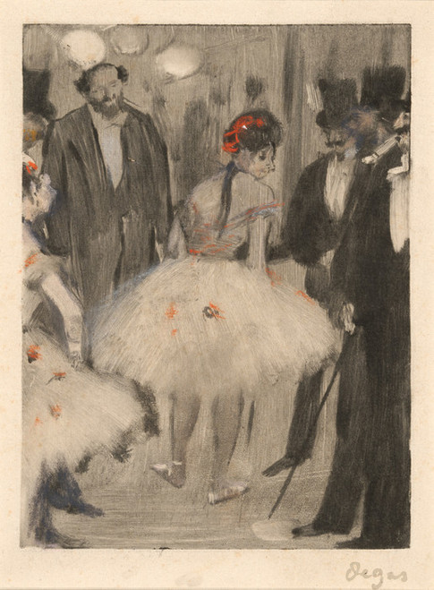 Art Prints of Virginie Admired While the Marquis Cavalcanti Looks On by Edgar Degas