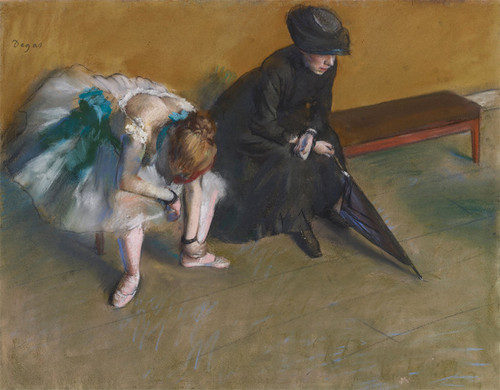 Art Prints of Waiting by Edgar Degas
