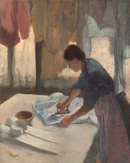 Art Prints of Woman Ironing II by Edgar Degas