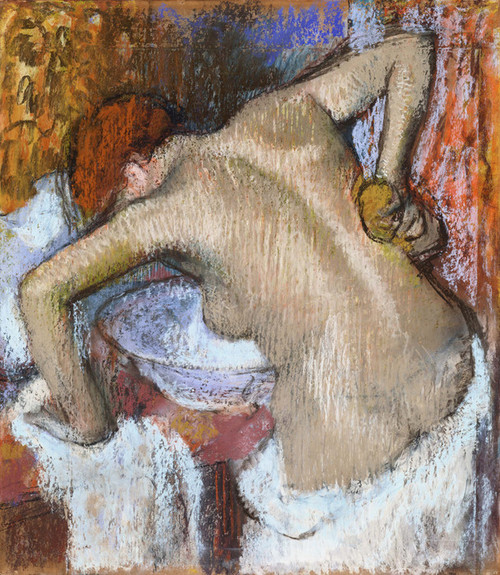 Art Prints of Woman Sponging Her Back by Edgar Degas