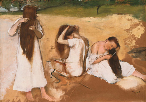 Art Prints of Woman Combing Their Hair by Edgar Degas