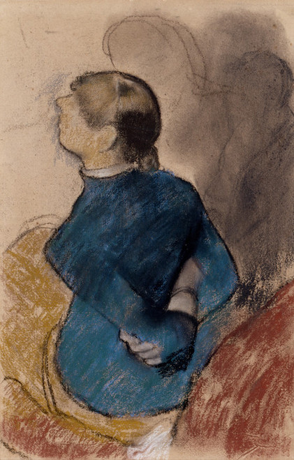 Art Prints of Young Woman in Blue by Edgar Degas