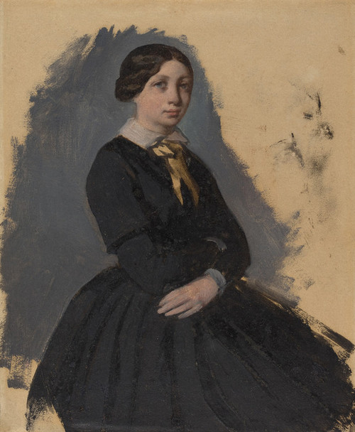 Art Prints of Young Woman in Black by Edgar Degas