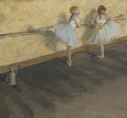 Art Prints of Practicing at the Barre by Edgar Degas