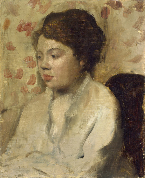 Art Prints of Portrait of a Young Woman by Edgar Degas